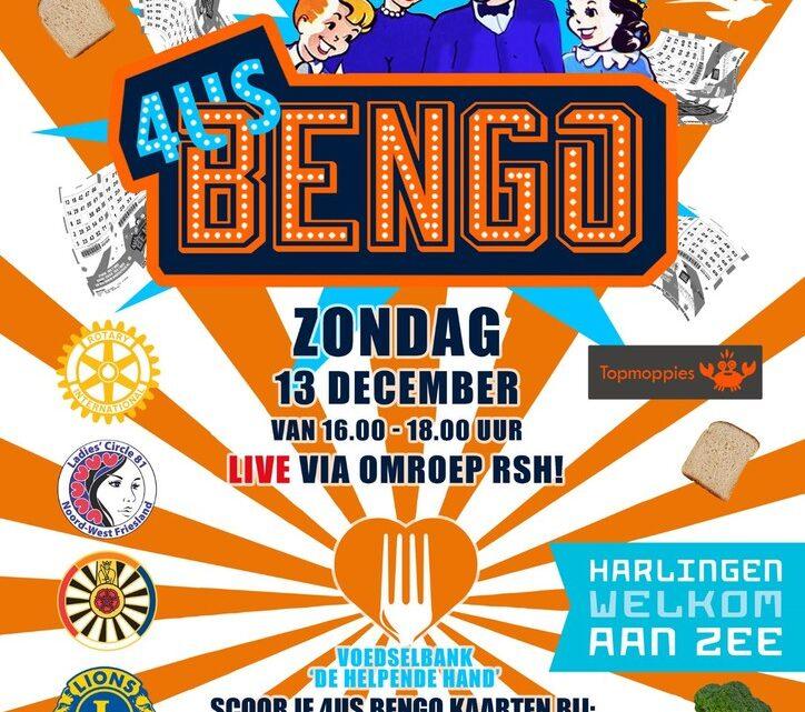 HÉÉL Noordwest Friesland aan de  4US BENGO voor Voedselbank De Helpende Hand!